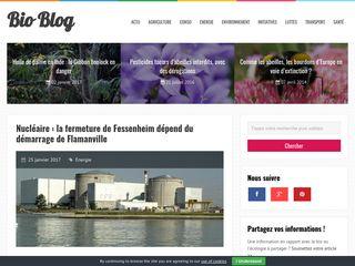 Les infos sur l'environnement sont sur Bio-Blog