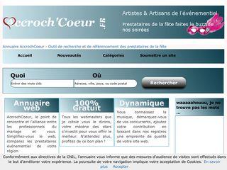 AccrochCoeur, tout simplement un annuaire
