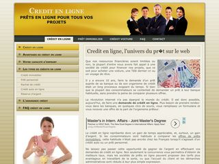 Un credit en ligne