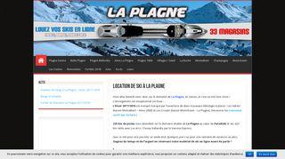 Trouvez en ligne votre magasin de location de ski à La Plagne