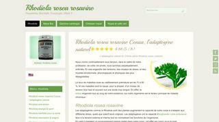 Rhodiola Conua plante santé adaptogène
