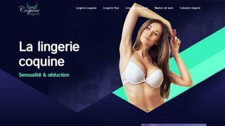 Boutique de lingerie en ligne