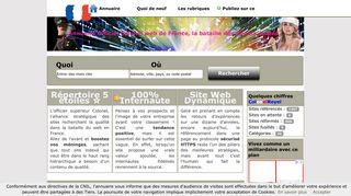 Annuaire Colonel, la popularité bio de votre site