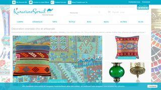 Coussin vintage, vase déco et luminaire oriental