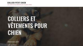 Accessoires de luxe pour chihuahua et petit chien