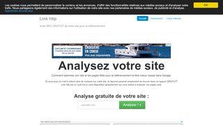 Le meilleur outil pour analyser votre site link-http.info